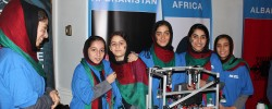 Afghan girls' robotics team win contest in Europe