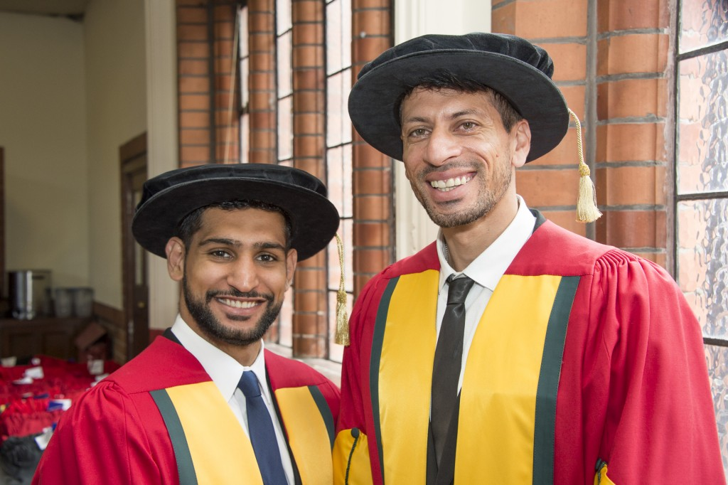 Amir Khan and cricketer cousin Sajid Mahmood accept honorary degrees