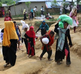 Myanmar mines target Rohingya Muslim refugees says Rights group