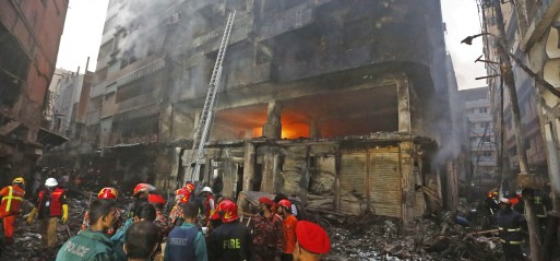 Bangladesh: Fire kills at least 70 in Dhaka