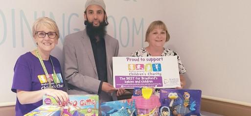 Bradford man distributes Eid gifts to hospitalised children