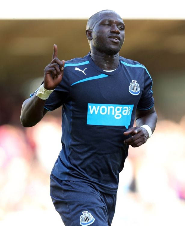 Cisse dons Wonga strip for first time