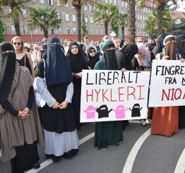 Denmark: Thousands march against veil ban