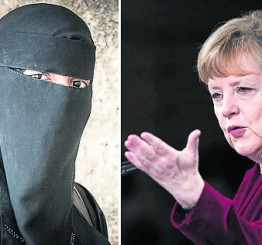 German Chancellor backs niqab ban