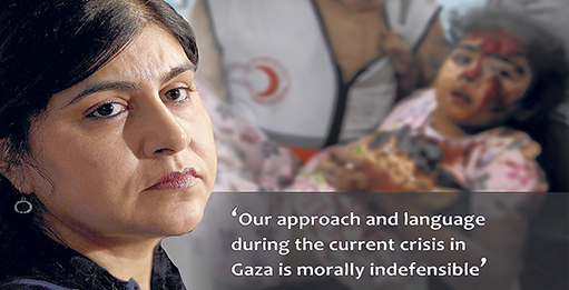 Government rocked by Warsi's Gaza resignation