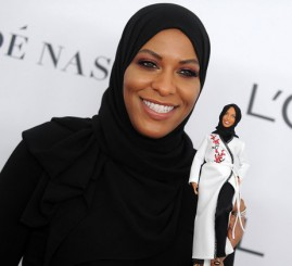 Barbie models new hijab doll after Olympic fencer
