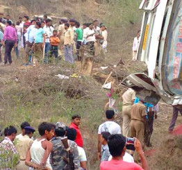 India: 10 killed, 30 injured as bus falls into ditch in Jharkhand