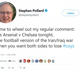 Jewish Chronicle editor slammed for Iran-Iraq war joke