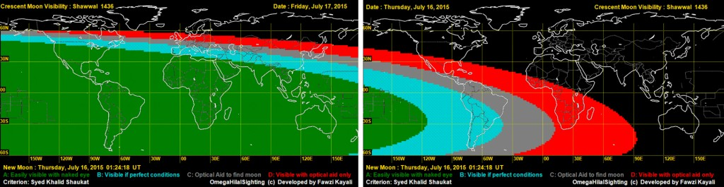 Moon for Eid 2015