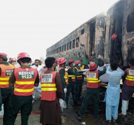 Pakistan: Train fire in NE Pakistan kills 65, injures 40