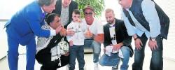 Palestinian orphan meets Real Madrid stars