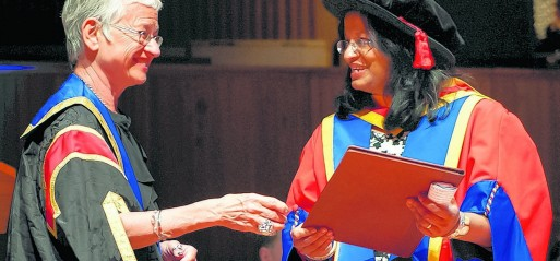 Professor Siddiqui receives honorary doctorate for commitment to excellence