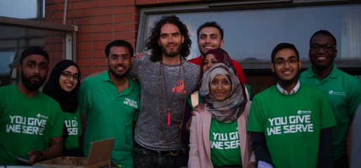 Russell Brand joins to feed the homeless at Booth House