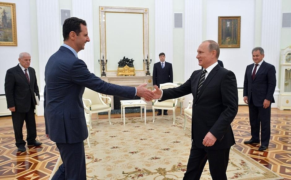 Russia Syrian President Meets Vladimir Putin In Moscow The