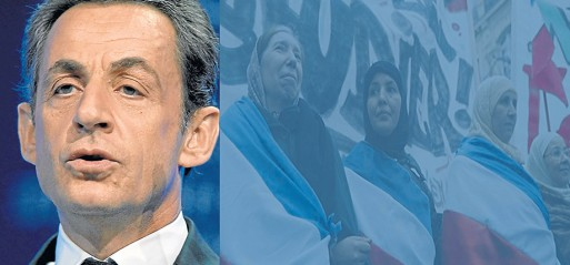 Sarkozy vows to ban hijab in France