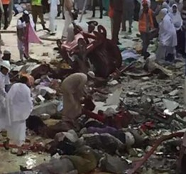 Saudi Arabia: 87 killed as vast construction crane collpases on pilgrims in Makkah