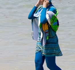 Swimmer fined for wearing burkini