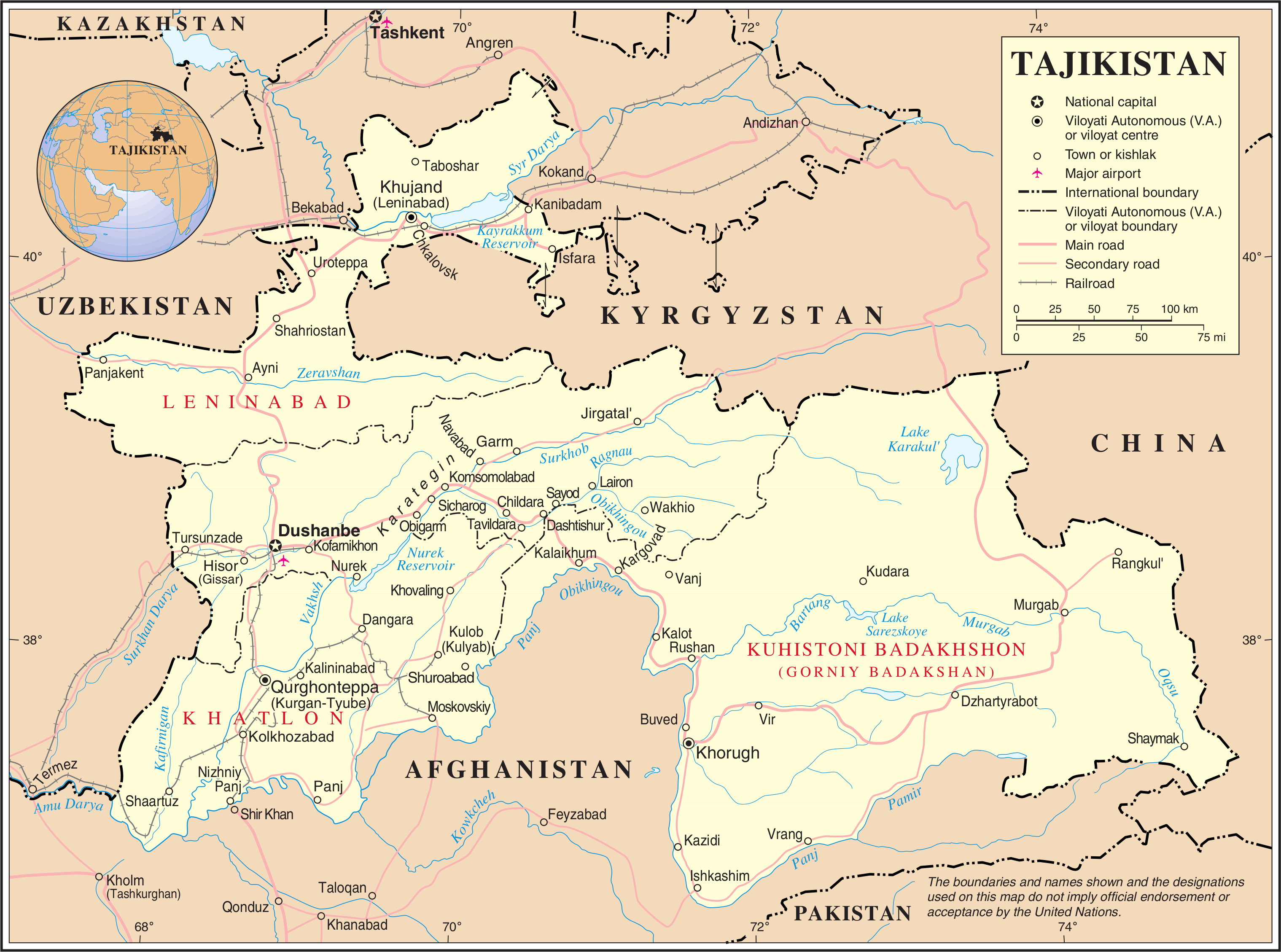 Tajikistan Islamic Renaissance Party Executives Detained The - Middle east map dushanbe