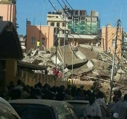 A 16-storey building collapsed in city center of Dar es Salaam