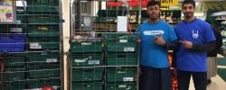 Teen volunteers support  East end food drive