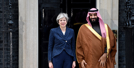 May becoming increasingly intimate with the Saudis