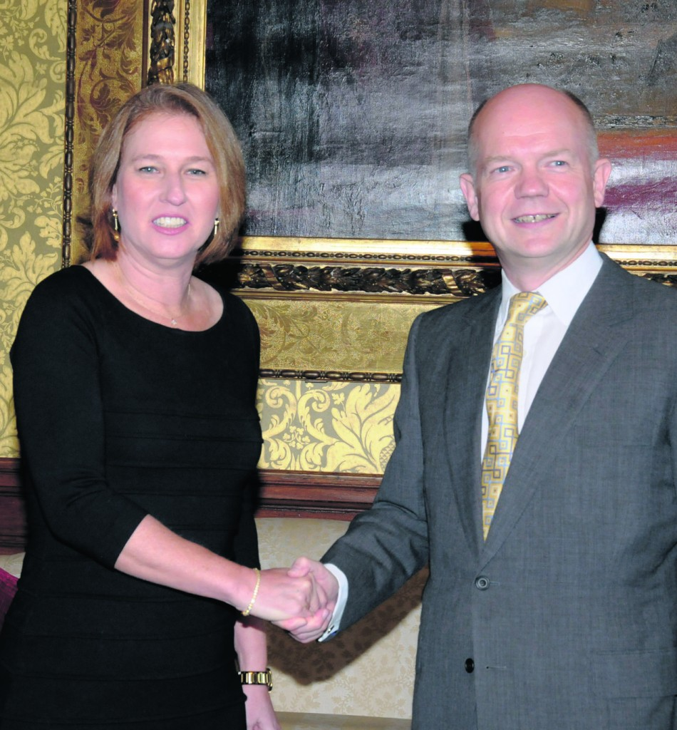 Tzipi Livni # William Hague