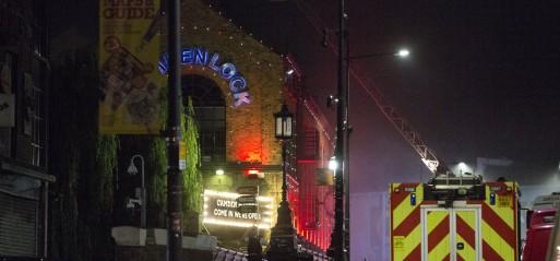 UK: Massive fire engulfs Camden Lock Market in north London