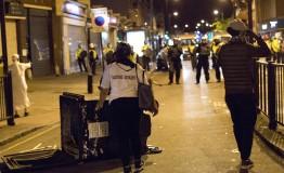 UK: Police battle violent protesters in East London