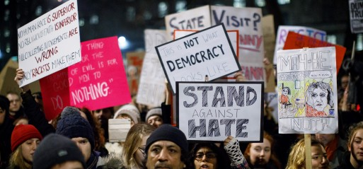 UK: Britons protest Trump's Muslim travel ban