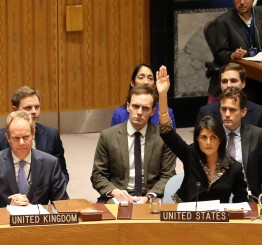 Palestine: Arab countries regret US veto of Jerusalem UN resolution