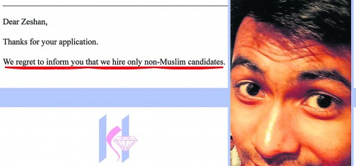 We don't hire Muslims, Mumbai-based company tells candidate