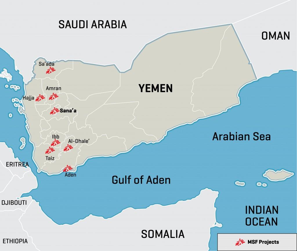 YEMEn map of MSF clinic activities dec 2105 MSF map