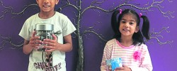 Young siblings raise funds for children's hospice for Ramadan
