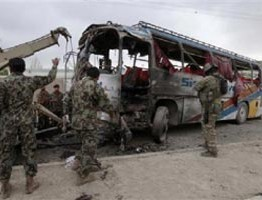 Afghanistan: Suicide attack against army bus wounds 14 in Kabul