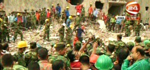 Bangladesh: Woman pulled out alive, Savar building collapse