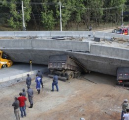 Brazil: Vehicles crushed as World Cup bridge collapses, killing two