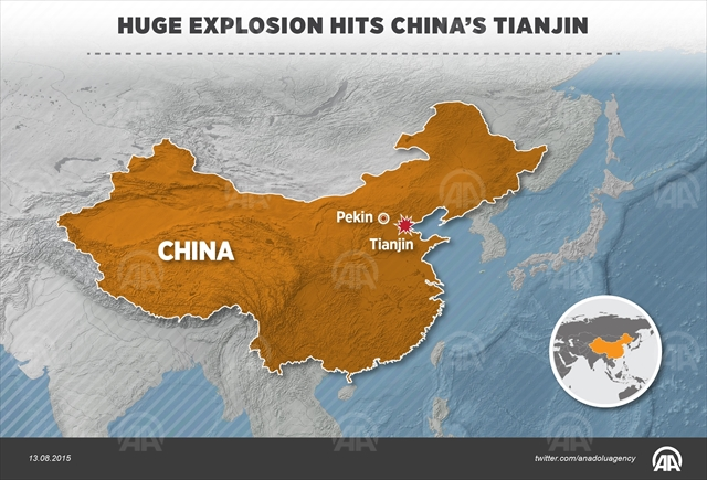 china warehouse explosion map Phot Ahmet Burak Ozkan AA
