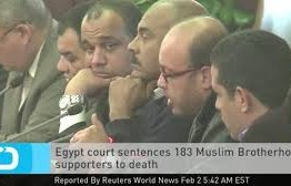 Egypt: Death sentence for 183 brotherhood supporters