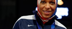 Olympic fencer asked to remove hijab