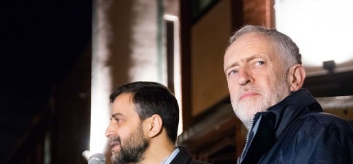 Labour leader joins vigil outside mosque after attempted arson attack