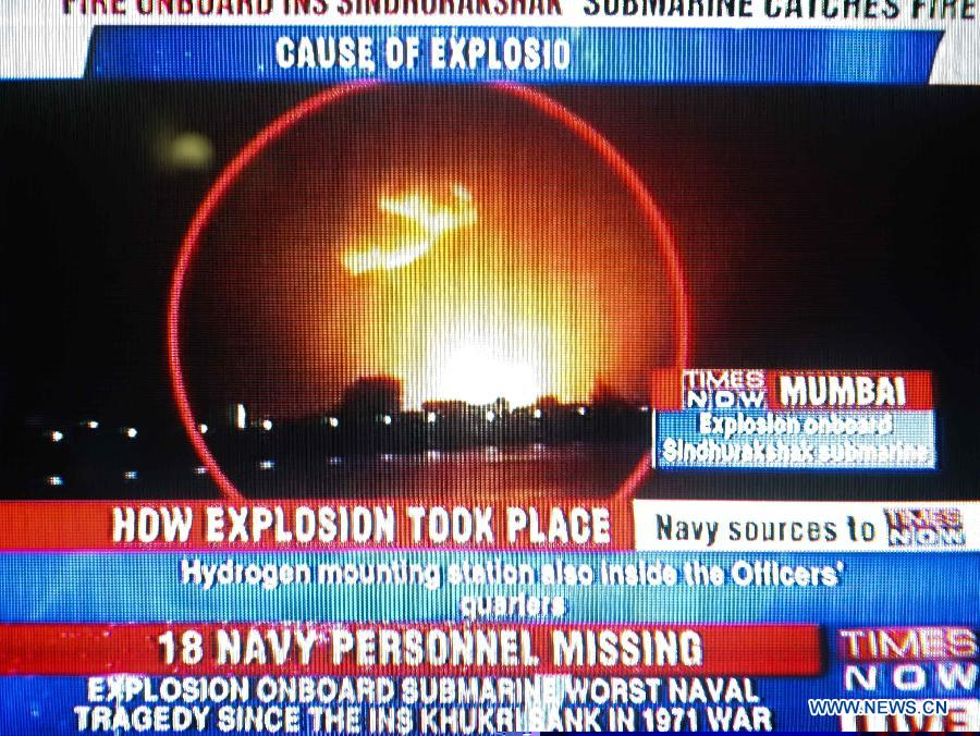 indian submarine explodes aug 2013