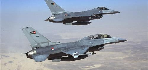 Jordanian warplanes destroy alleged rebel vehicles on Syria border