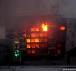 Russia: Publishing house on fire in Grozny rebel clash