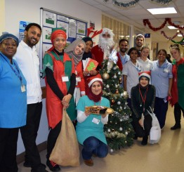 Visiting lonely patients in hospitals during Christmas