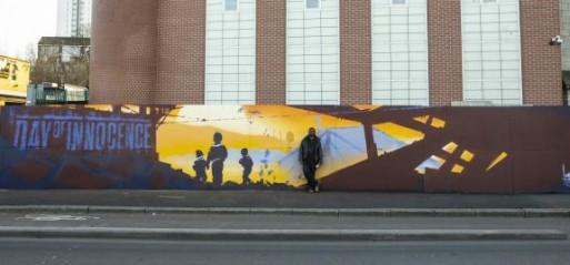 Aerosol Ali's mural on Greenwich Mosque wall highlights Syrian crisis