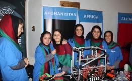 Afghan girls' robotics team win contest in Europe