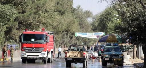 Afghanistan: Explosion targets Afghan president's rally, 24 killed
