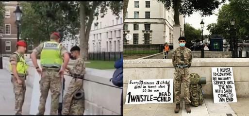 British Muslim soldier arrested over Yemen war protest