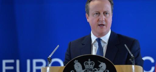 Belgium: Cameron backs progress towards EU-Turkey refugee deal
