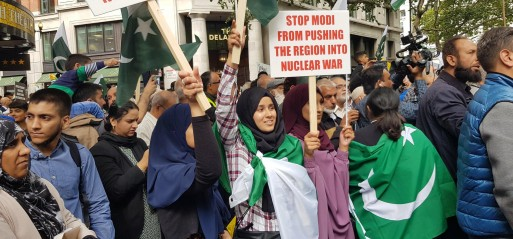Thousands protest against brutal clampdown of Kashmiri people
